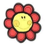 Фигурка гумена 45x3 мм цвете със закопчалка - 5 броя