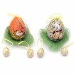 Комплект яйца стиропор 100х70 мм , 40х25 мм с кокосова трева МИКС