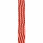 Ширит сатен 25 мм рипс червен щампа -2 метра