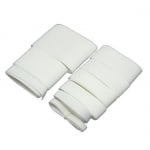 Комплект ленти сатен рипс с ширина от 6 мм до 50 мм -9 размера x 1 метър цвят бял