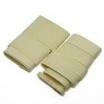 Комплект ленти сатен рипс с ширина от 6 мм до 50 мм -9 размера x 1 метър цвят кремаво