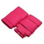 Комплект ленти сатен рипс с ширина от 6 мм до 50 мм -9 размера x 1 метър цвят циклама