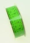 Лента полипропилен 15 мм самозалепваща зелена с пеперуди -1 метра