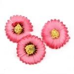 Цвят астра 35 мм с пънче за монтаж тъмно розов -10 броя