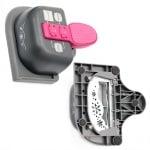 Перфоратор /пънч/ за дантелени подложки 125x55 мм 3 в 1 за картон до 160 гр/м2 мотив снежинки