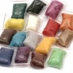 Комплект за плъстене с вълна филц 16 цвята от 10 грама,подложка 14.7x8x2.8 см,10 игли и дървена дръжка