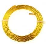 Лента алуминиева 3x1 мм цвят злато -2 метра