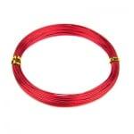 Тел алуминиева 0.8 мм цвят червен -10 метра