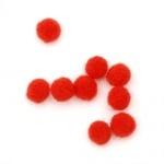 Помпони 6 мм червени първо качество -50 броя