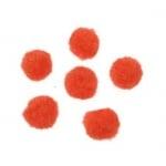 Помпони 12 мм оранжеви -20 броя