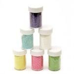 Брокат в бурканче/солничка АСОРТЕ цветове дъга -8±10 грама