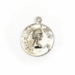 Паричка метал 15 мм сребро с халка -50 броя