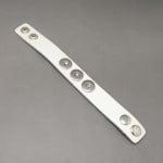 Гривна естествена кожа метал за копче Тик-так 240x25 мм. бяла