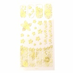 Стикери за декорация дантела АСОРТЕ цвят злато