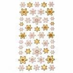 Самозалепващи стикери 3D цветя 10~20x10~25 мм