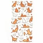 Самозалепващи стикери 3D котки и сърца 5~5x45~30 мм