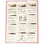 Самозалепващи стикери за декорация на маникюр 3D бяло и черно микс
