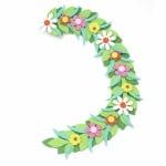 Цветя на клонка фоам /EVA материал/ 65x450 мм -3 броя