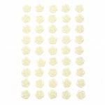 Самозалепващи перли цвете 10 мм бели - 45 броя