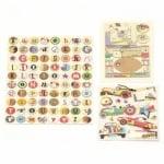 URSUS комплект от хартия тема Автомобили 6 листа 30.5x30.5 см асорти и микс декоративни елементи
