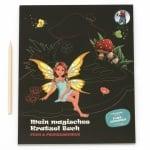 URSUS комплект магически картини Magic Scratch Book Феи и принцеси 12 листа 21x26 см с 12 мандали и дървен инструмент за издраскване