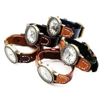 Часовник естествена кожа метал цвят античен бронз 260x18x3 мм. АСОРТЕ