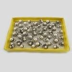 Пръстен метал антично сребро кристали перли 17±20 мм