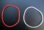 Гривна силикон бяло и червено -12бр.