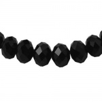 Наниз мъниста кристал 8x6 мм дупка 1 мм черен ~72 броя