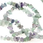 Наниз полускъпоценни камъни ФЛУОРИТ чипс 5-7 мм ~90 см