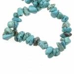 Наниз естествени камъни чипс 8-12 мм ~90 см ТЮРКОАЗ
