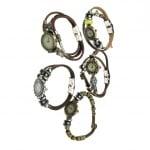 Часовник естествена кожа цвят античен бронз АСОРТЕ