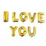 Балон фолиев I LOVE YOU -8 букви цвят злато