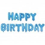 Балон фолиев HAPPY BIRTHDAY -13 букви цвят син