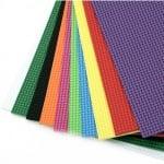 EVA материал /микропореста гума/ 2 мм А4 20х30 см релефен фигурален АСОРТЕ цветове -10 листа