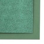 EVA материал /микропореста гума/ 2 мм А4 20х30 см с брокат зелен тъмно
