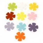 Цвете филц 52x2 мм микс цветове -10 броя