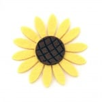 Слънчоглед филц 59x6 мм жълт -10 броя