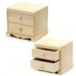 Скрин дървен за бижута с огледало 160x135x135 мм две чекмеджета