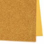 EVA материал /микропореста гума/ 2 мм А4 20х30 см с брокат злато тъмно
