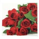 Салфетка HOME FASHION 33x33см трипластова Bunch of Roses -1 брой