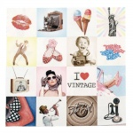 Салфетка HOME FASHION 33x33см трипластова I Love Vintage -1 брой