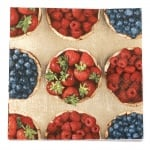 Салфетка HOME FASHION 33x33см трипластова Fresh Berries -1 брой