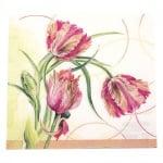Салфетка HOME FASHION 33x33 см трипластова Parrot Tulip -1 брой