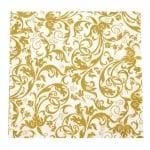 Салфетка HOME FASHION 33x33см трипластова Arabesque gold -1 брой