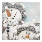 Салфетка HOME FASHION 33x33см трипластова Cozy Snowmen -1 брой