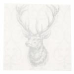 Салфетка HOME FASHION 33x33см трипластова Deer grey/silver -1 брой