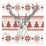 Салфетка HOME FASHION 33x33см трипластова Norwegian Elk -1 брой