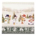 Салфетка HOME FASHION 33x33см трипластова Icy Snowman Meeting -1 брой