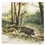 Салфетка за декупаж Ambiente 33x33 см трипластова Wild Boars In The Woods -1 брой
